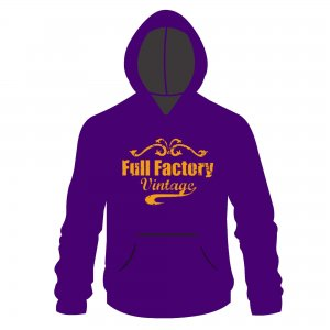 Full Factory Vintage Hoodie Purple & Yellow