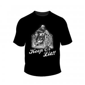 Full Factory Vintage - Mens Keep er Lit T-Shirt Front