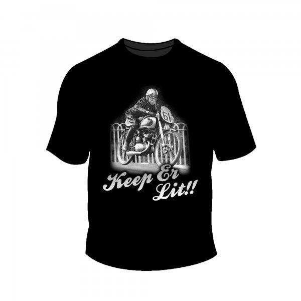 Full Factory Vintage – Mens Keep er Lit T-Shirt Front