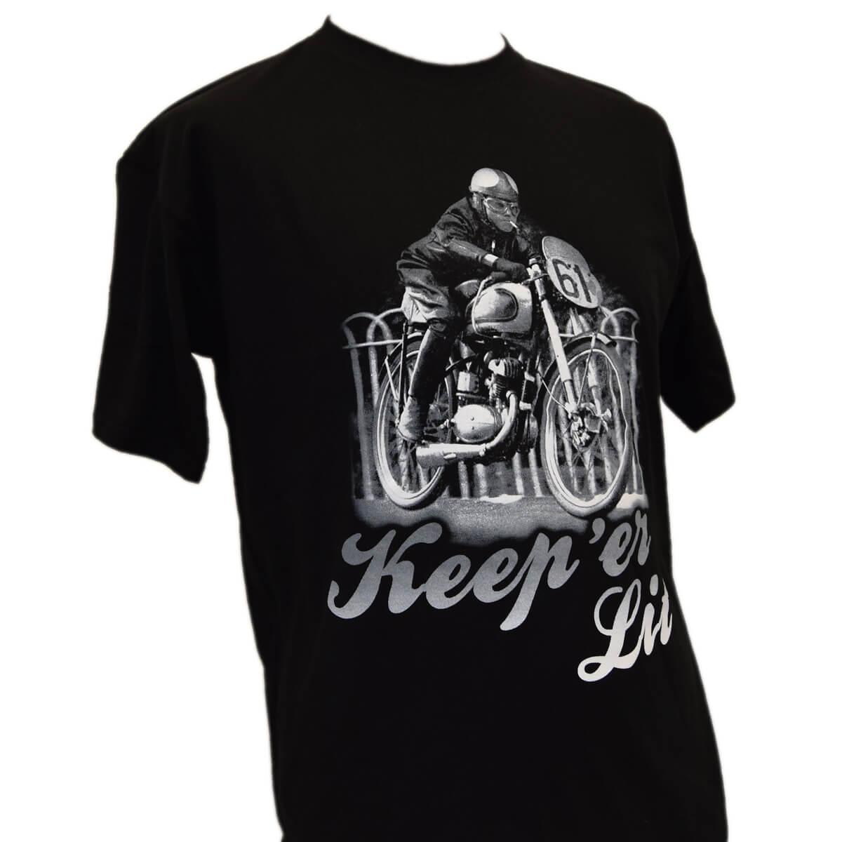 Mens keep er lit t shirt full factory vintage for Vintage t shirt company